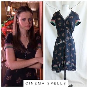 ☀️Early 00s ASO Rory in Gilmore Girls Silk Dress 8